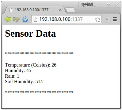 Intel Galileo DIY Weather Station Output