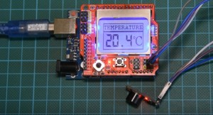 Arduino IR thermometer using the MLX90614 IR temperature sensor