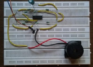 Loud alarm Circuit using Opamp LM324