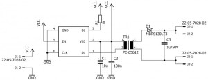 3.3V to 30V DC/DC converter using SN6505A