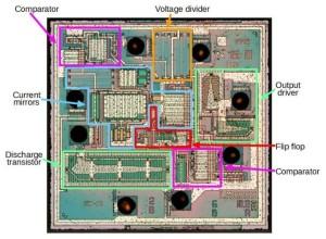 Reverse engineering the popular 555 timer chip (CMOS version)
