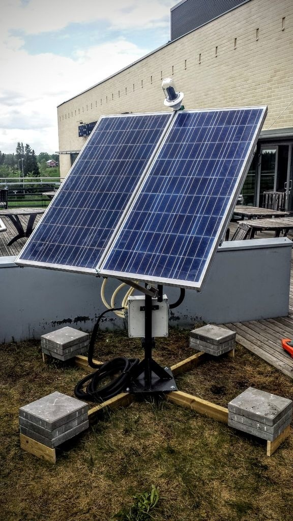 dual axis solar tracker with online energy monitor. Black Bedroom Furniture Sets. Home Design Ideas
