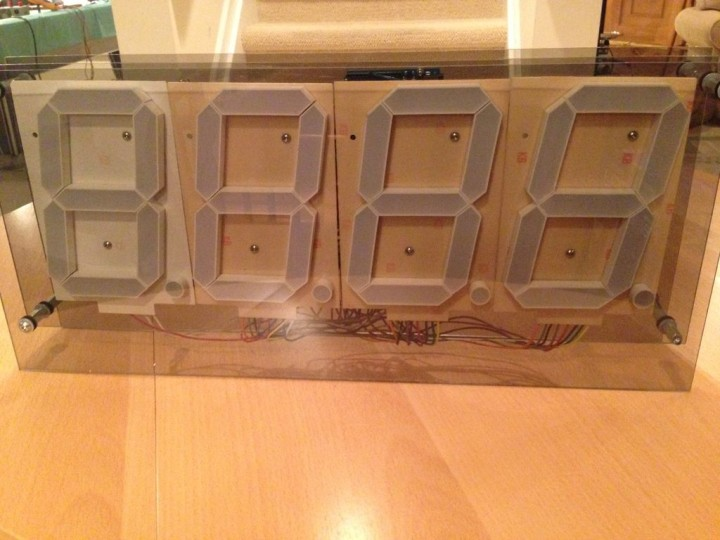 Make a huge 7-segment digital clock with Arduino | Electronics Infoline
