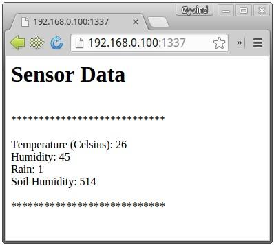 Intel Galileo DIY Weather Station Output