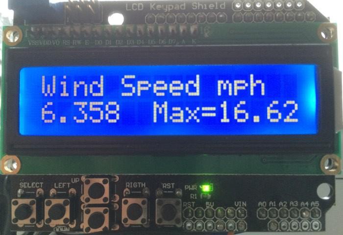 Arduino Wind Speed Meter Anemometer 3