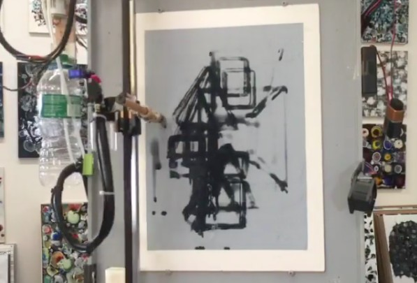 Make masterpieces with a homemade CNC painting machine 3